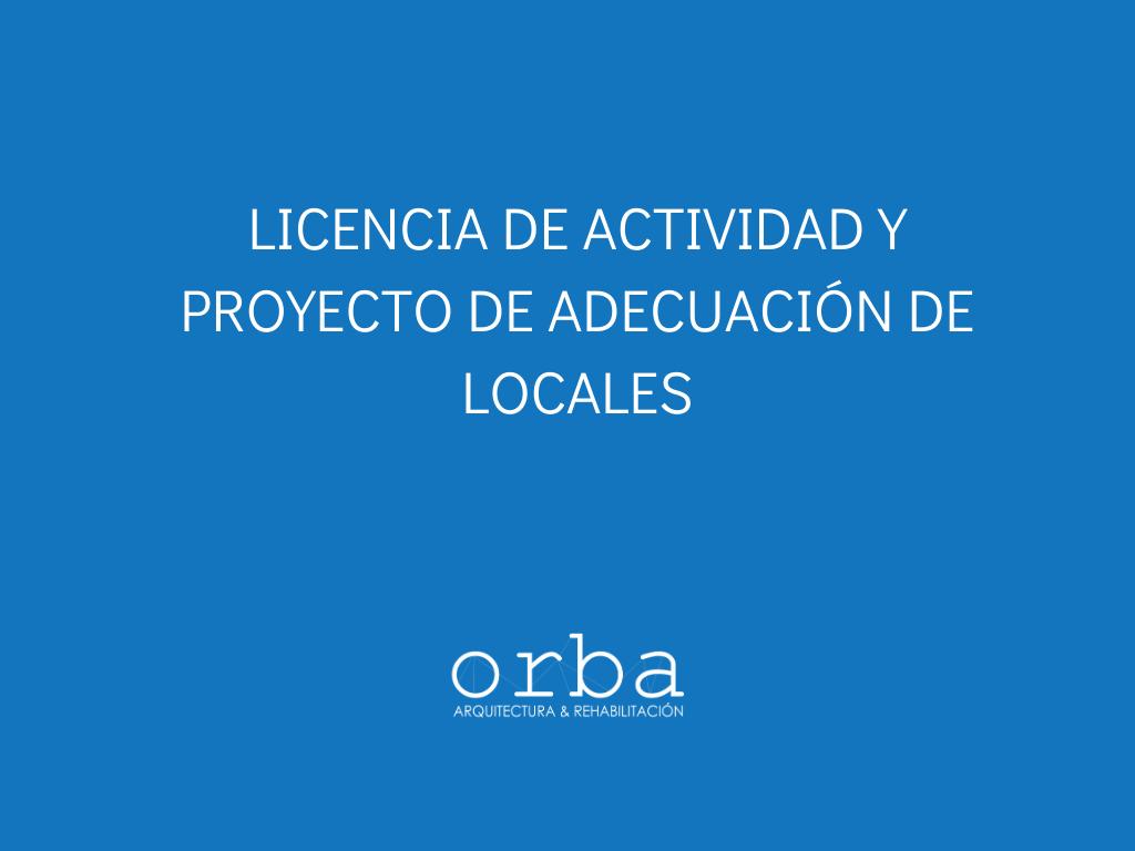 licencia de actividad y proyecto de adecuacion de local cadiz